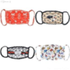 Bandana Ears Aksesuarlar Koruma Womandesigner Kızlar Düğme Ouki Aşınma Maske için Maskeler Ou İçin Yüz Saç Pamuk Kafa Lüks Tasarımcı