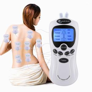 8 طرق عشرات العلاج الكهربائي مدلك الخلفية شاشة LCD تحفيز العضلات جهاز علاج المزدوج قناة الظهر تخفيف آلام