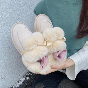 Snow Boots Women Winter Plus Velvet 2020 Autumn and Winter New Retro Short Tube Flat Comfortable Cotton Shoes