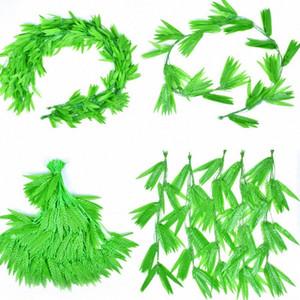 10pcs 180cm Plantes artificielles Ivy Leaf Guand Willow quitte la vigne de fleurs en plastique pour la maison Christams Shop Fête de mariage Decoratio UWTS #