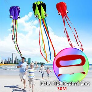 Kite Fly Toys 4M Octopus Kites mit 30M Line Außen Leicht Fly Kite Kinderspielzeug Outdoor Fun Sports pädagogische Geschenke Kites 1018