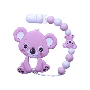 Joepada Bebek Teething Nelace güzel Koala Baykuş At Çerezler Bebek diş kaşıyıcınız Molar Oyuncak Hediye rakun gıda Sınıfı Silikon Boncuk