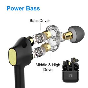 Dual Dynamic Drivers Bluetooth 5.0 Waterproof Earphones TWS Fingerprint Touch Headset HiFI Earbuds Wireless Sport