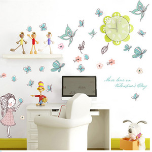 Flying Butterfly Stickers for Girls Wall, Girls Room, Home Decor, Art Mural, Cartoon Stickers, Kids Room Wallpaper