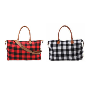 Women Oversize Storage Bags 22 Inch Large Capacity Duffle Bag Grid Handle Pouch Fashional Women Shoulder Handbag Leather Cloth Shopping Bag