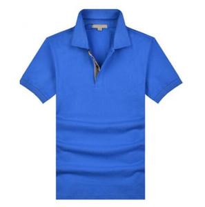Hommes London Polo Shirt Cheveux Broderie Slim Royaume-Uni Classic Polos Garçons Coton à manches courtes En Angleterre T-shirt Solide T-shirt Casual respirant Sportswear