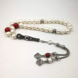 Beaded, Strands Natural Pearl Tasbih 33 66 99Muslim Freshwater Gift Bracelet Women Misbaha Love Islamic Jwelry For Women1