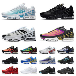 2020 New TN 3 Tuned Plus Men Women Running Shoes Triple Black All White Plus Tn Crimson Red air