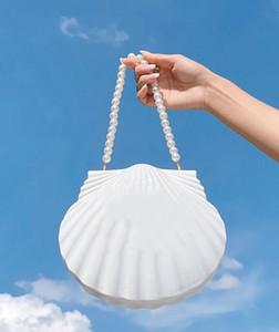 Damenmode Abendessen Tasche Jakobsmuschel Stil Kupplung Geldbörse VIP Geschenk Tasche Hat schwarze Geschenkbox Paris Mode Frauen Shell Perle Armband Tasche