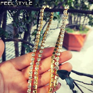 5mm 60cm ice cream alloy strain tennis chain long chain male kidnapper jewelry necklace