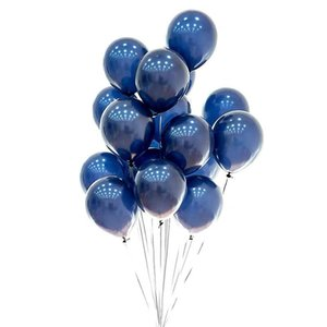10inch night blue party decoration latex balloons advanced thickened light helium balloon birthday wedding Valentine's day decor