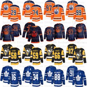 maillots les plus vendus 97 Connor McDavid 74 Ours 29 Draisaitl 87 Sidney Crosby 66 Lemieux 91 John Tavares 16 Marner 34 Matthew chandail de hockey