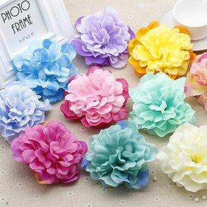 Lot 10 adet 7 cm Yapay Şakayık Çiçek Kafaları DIY Kız Kafa Saç Kelepçesi Aksesuarları Düğün Duvar Kemeri Çiçekler Dekoratif Flores1