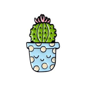 Cartoon Brooch Pianta in vaso Serie Pianta Cactus Bella Accessori Badge Pin Personalità Originalità Ornamenti Nuovo Arrivo 1 5bl m2