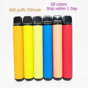 Tek kullanımlık Cihaz Pod 800 puflar 550mAh Pil 3.2ml Kalemler Vape Kartuş Packaging Boş Elektronik Sigaralar Custom Made