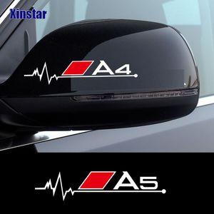 2 ADET Araba Dikiz Aynası Sticker Audi Sline Quattro A3 A4 A5 A6 A7 A8 TT Q3 Q5 Q7 S3 S4 S5 S6 B6 B7 B8 B9