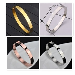 Rose gold 316L stainless steel screw bangle bracelet with screwdriver and stone screws with box Free shipping 2020   womens bracelets