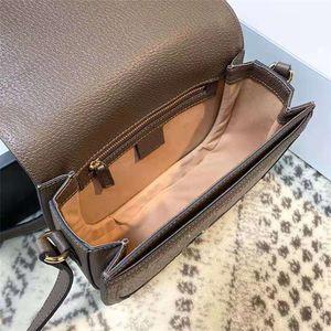Luxurys Cover Package Taschen Leder Satteltaschen Schulter Voller Messenger PVC Patchwork Series Flap OP Goldene Legierung Hardware Handtaschen FRKER