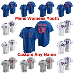 Yeni 2020 Takım Beyzbol Cubs 17 Kris Bryant Formalar 9 Javier Baez 44 Anthony Rizzo 12 Kyle Schwarber 22 Jason Heyward 14 Ernie Bankaları