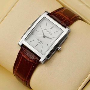 Наручные часы Womage Fashion Watch Damies Top Rectangle Женщины Часы Кожаная полоса Кварцевые наручные часы Montre Femme1