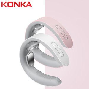 Konka U Shape Electrical Shiatsu Back Neck Shoulder Body Massager Isolated Kneading Car Home Massagem with Gift Box Free Shipping