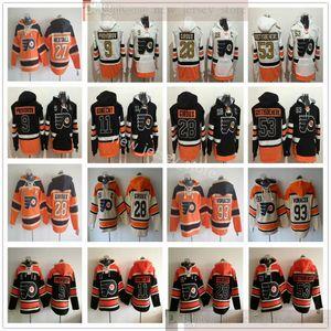 Philadelphia Flyers Hockey Hoodie Jerseys 28 Claude Giroux 93 Jakub Voracek 53 Shayne Gostisbehere Ron Hextall Travis Konecny Ivan Provoradoov