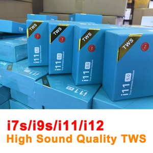 TWS Wireless Headsets Bluetooth 5.0 mini fones de ouvido I7 / I7S / I9S / I11 / I11PRO / I12 Earbuds com Caixa de carregamento Microfone para telefones celulares
