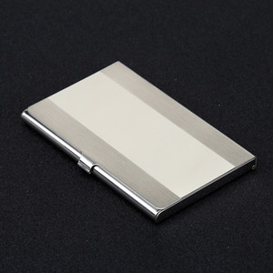 Stainless Steel Business Card Case For Office 10 Styles Metal Color ID Cards Holder Men Wallet Fashion 5 8sxa E1