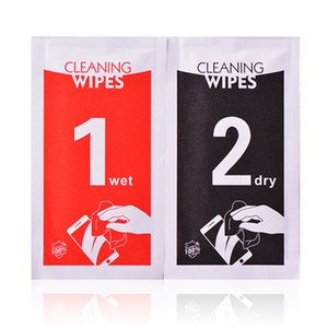 Dry Wet Wipes 2 in 1 Alcohol Cleaning Cloths Tools For Tempered Glass Screen Protector For iPhone XS Max XR X 8 7 Plus Samsung Huawei Xiaomi