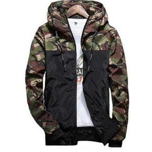 2020 Printemps Automne Hommes Casual Camouflage Veste à capuche Homme Vêtements coupe-vent imperméable hommes Manteau Homme Outwear 6XL