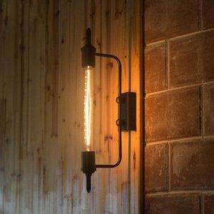 Luz retro Industrial país innovador restaurantes Bbalcony Corredor Etapa arte de la pared de la lámpara Negro dlDT #