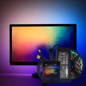 DIY Ambilight TV PC Dream Screen USB LED Strip Tape Computer Monitor Backlight Addressable WS2812B LED Strip 1 2 3 4 5m Full Set 201028