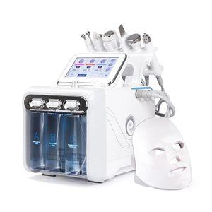 7 в 1 в 1 гидра-лицевой машине для лица светодиодная маска шеи рф кожа Rejuvenaiton Diamond Microdermabrasion Hydro dermabrasion Bio-поднимаясь удаление морщин