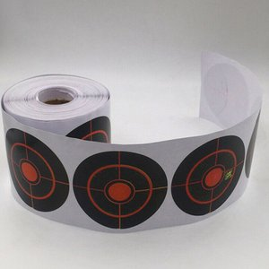 250pcs Roll Shooting Target Adhesive Shoot Targets Splatter Reactive Stickers for Archery Bow Hunting Shooting Practice Training