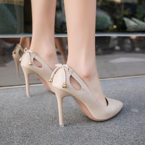 Women High Heels Brand Pumps Women Shoes Pointed Toe Butterfly Summer Sexy Party Shoes Wedding