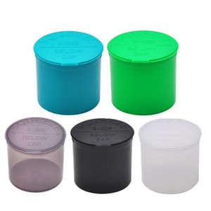 90 Dram Empty Squeeze Pop Top Bottle-Vial Herb Box Acrylic Plastic Stroage Stash Jar Plastic Pill Bottle Case Box Herb