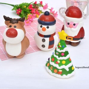 New Christmas Squishy Toys Christmas tree santa claus Snowman elk Slow Rising Scented Squeeze Squishies Toy Home Decoration Xmas Gifts