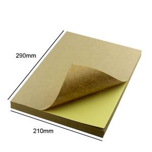 100sheets A4 colorido adesivo adesivo adesivo auto adesivo A4 papel kraft para laser jato de tinta impressora etiqueta 11 SE BBYLZP