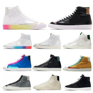 Üst Kalite Blazer Mid 77 Erkek Ayakkabı Vintage Çok Renkli İyi Oyun Racer Mavi Kadın Ayakkabı Beyaz siyah erkek eğitmenler Doğa Sporları Spor ayakkabılar