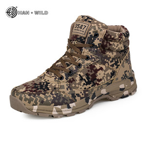 Winter Tactical Men Snow Boots Camouflage Warm Cotton Army Shoes Trainer Footwear Mens Military Ankle Boot 201026