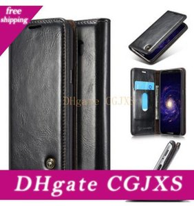 New Multi -Function Detachable Magnetism Cover Zipper Bag For Iphone 7 7plus For Samsung S8 S8 Plus Retro Genuine Split Leather Wallet Case