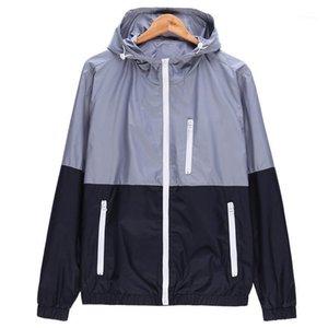 WOQN Jackets Women Spring New Fashion Jacket Womens Coat Hooded Basic Jacket Casual Thin Windbreaker female Outwear jk1061