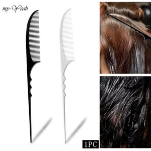 1PC Barber Anti-Static Hair Comb Hairstyling Rat Tail Hairbrush Moon Style Comb Salon Dyeing Haircutting Hairdressing Tools