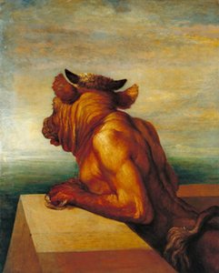 George Frederic Watts The Minotaur Home Decor Handcrafts  HD Print Oil Painting On Canvas Wall Art Canvas Pictures 201023