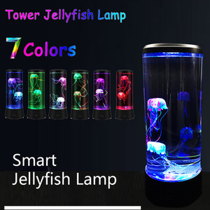 Jellyfish Night Light Lamp LED Color Changing Home Decoration Aquarium Style LED Birthday Gift for Kids Children USB Charging