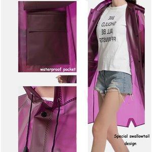 Long New Design BbyOkX Quality Women Tpu Hooded Yuding Rain High Mens Fashion Jacket Ladies Black Waterproof Raincoat Fiv Coat Akdgo
