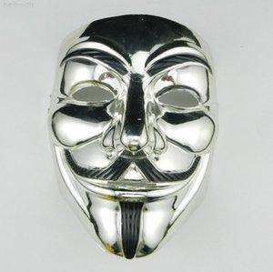 Argento V maschera Maschere Maschere per Vendetta Anonymous Gold Gold Ball Ball Decorazione Partito Full Face Face Halloween Spaventoso Party Mask DBC VTH