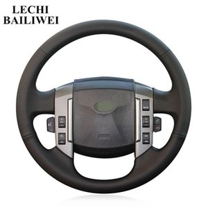 DIY Black Artificial Leather Hand-stitched Car Steering Wheel Cover for Discovery 3 2004-2009 Car accessories