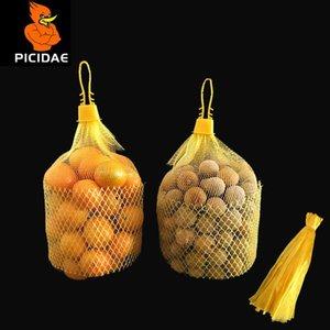 Woven Protective Case Mesh Net Pocket Supermarket Packing Bag Fruit Snack Litchi Chestnut Jujube Peanut Longan Orange Nuts