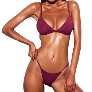 Women Sexy Bra Brief Sets Push-up Padded Solid Swimwears Swimsuit Beachwear Women's Swimsuits Bather Swimwear Underwear Set 16